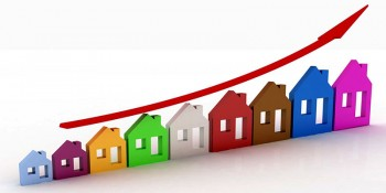 Graphic depicting rising home prices