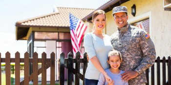Military family who has just purchased a new home